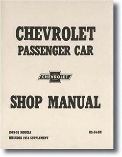 amazon com 1955 chevrolet factory repair shop service manual rh amazon com 54 Chevy 59 Chevy