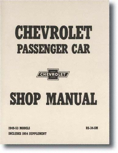 amazon com chevrolet passenger car shop manual 1949 53 models1952 Chevy Styleline Fleetline Wiring Diagram 1952 Get Free Image #10