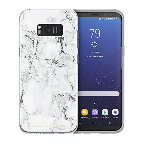 Rebecca Minkoff Sheer Protection Case for Samsung Galaxy S8+ - Marble Print Clear/Black Foil