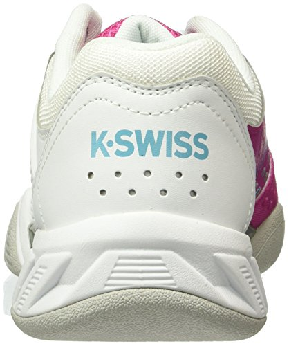 K-Swiss Performance Bigshot Light 2.5 Carpet, Zapatillas de Tenis para Mujer Blanco - Weiß (WHITE/VERYBERRY 924)