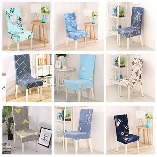 Amazon.com: Creaon Dust-proof Stretch Dining Chair Covers ...