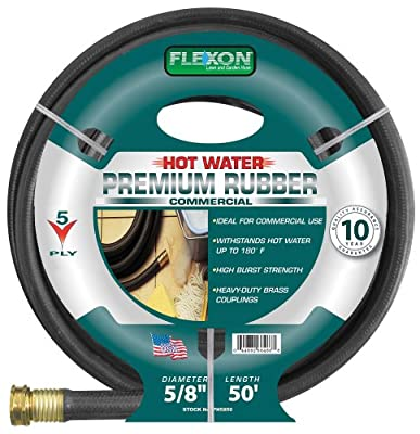 Flexon PH5850 5/8-Inch x 50-Foot Heavy Duty Premium Rubber Hot Water Hose