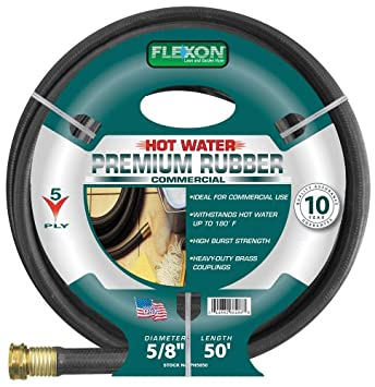 Flexon PH5850 5/8 Inch X 50 Foot Heavy Duty Premium Rubber Hot