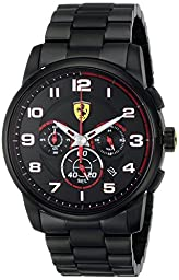 Ferrari Men\'s 0830054 Heritage Analog Display Quartz Black Watch