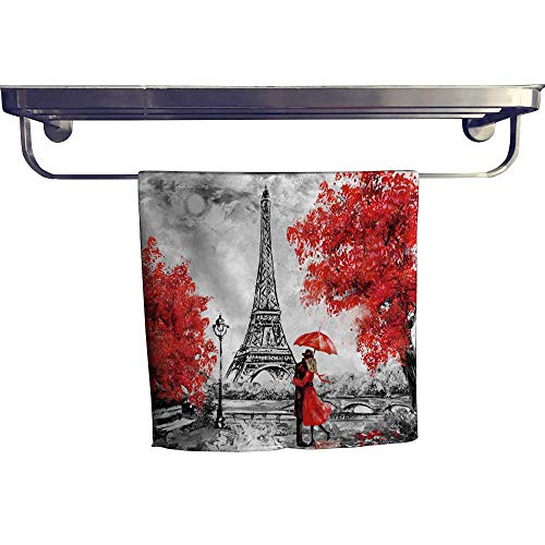 Leigh home Sports Ttowel,Oil Paint Paris Europe City dscape fr ce Wallpaper Eiffel Tower ,Ultra Soft, Cozy and Absorbent W 20