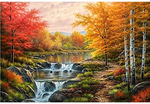 5D Diamond Painting Kits Cross-Stitching Embroidery Landscape Arts Crafts Gift U