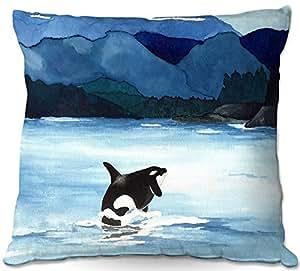 DiaNoche Designs Al aire libre Patio sofá manta almohadas insolente Design Studio–Orca playa
