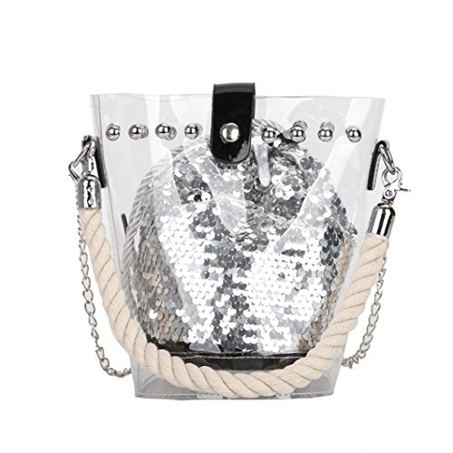 Strap Women BagVEMOW Silver Vintage Reversible Satchel Sequin Girl Handbag Backpacks Tote Purses Bags Bags Glitter Crossbody Bucket Anti Purse Clutches Theft Pack Shoulder Messenger q05gdx