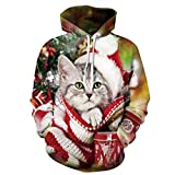 sankill Unisex Realistic 3d Digital Pullover Sweatshirt Hoodie Hooded Sweatshirt Hoodie S-3XL