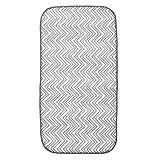InterDesign Mini iDry Microfiber Dish Drying Mat; 18'' Inches x 9'' Inches - Gray/White