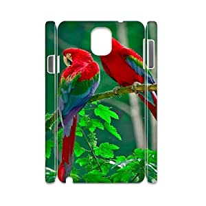 3D Samsung Galaxy Note 3 Cases Parrots Paradise, [White]