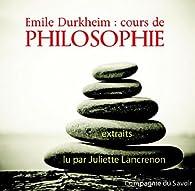 Cours de philosophie (1CD audio) par Emile Durkheim