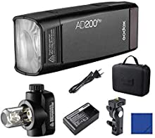 Godox AD200Pro 200Ws 2.4G TTL HSS 1 / 8000s Pocket Flash Monolight Double Strobe con 2900mAh Batería de Litio para Nikon Sony Fujifilm Olympus Panasonic Pentax Canon EOS Cámaras