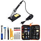 ANBES Soldering Iron Kit Electronics, 60W Adjustable Temperature Welding Tool, 5pcs Soldering Tips,...