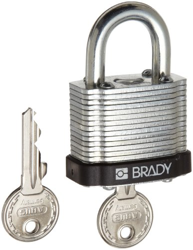 Brady Colored Labels (Brady Steel Lockout/Tagout Padlock, Keyed Different, 1-1/3