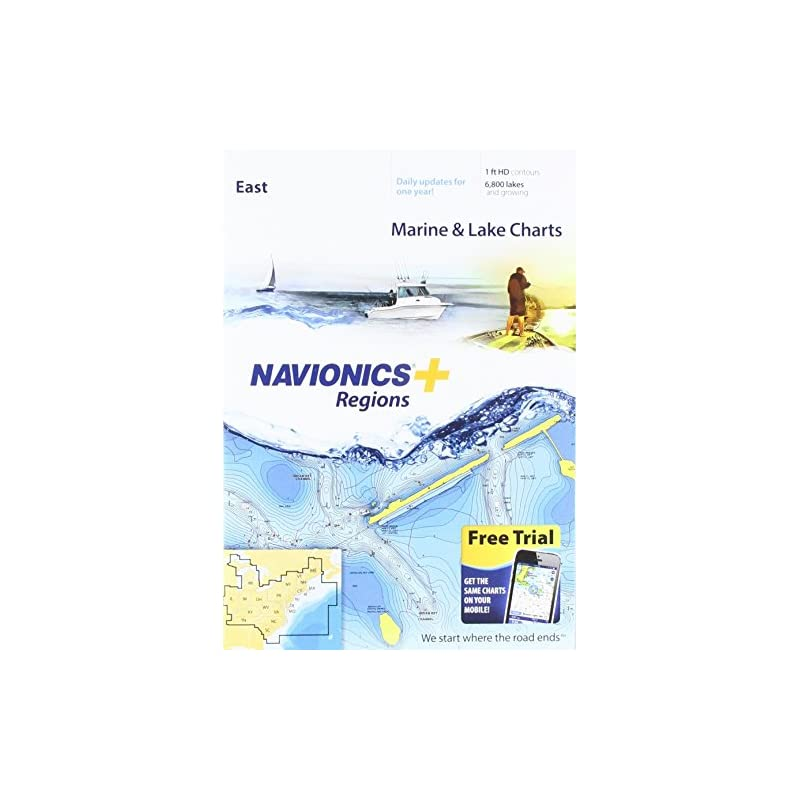 Navionics Plus Regions East Marine and L