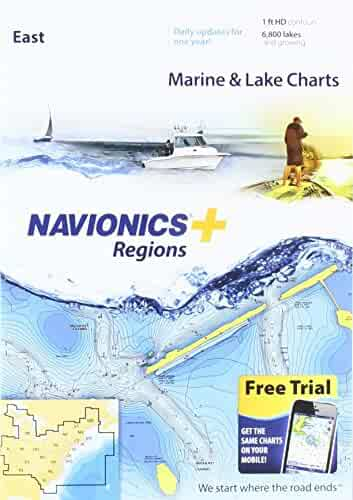 Navionics Plus Regions East Marine and Lake Charts on SD/MSD