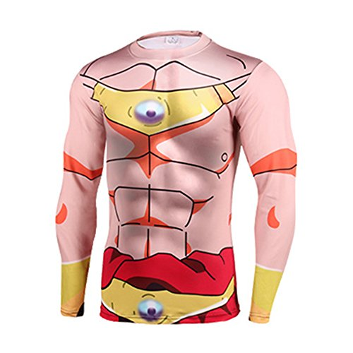 [Cartoon Dragon Ball Majin Buu Perspire Quick-dry 3D Shirt Cosplay Marvel Costume (Asian-S)] (Buu Costume)