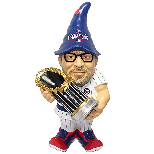 Chicago Cubs Garden Gnome - FOCO MLB Chicago Cubs Joe Maddon Unisex Maddon J. #70 2016 World Series Champions Resin Player Gnome