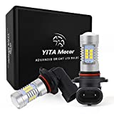 YITAMOTOR Fog Lights LED bulbs 1200 Lumens Extremely Bright Xenon White 21 SMD H10 LED Bulbs daytime running lights with Projector