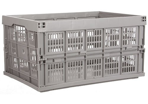 K&A Company Collapsible Storage Crate - Gray, 2.75'' - 10.75'' x 14'' x 6 lbs