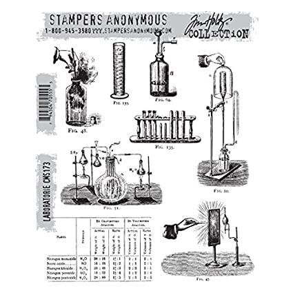 7-Inch by 8.5-Inch Stampers Anonymous Tim Holtz Cling Rubber Stamp Set Poisonous