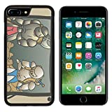 MSD Premium Apple iPhone 7 Plus Aluminum Backplate Bumper Snap Case Vintage comic draw Image ID 27229409