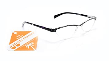 f0f553bec329 Cat Eye Women Retro Reading Glasses with Rhinestones and Spring Hinges  FLORIDA GLASSES®