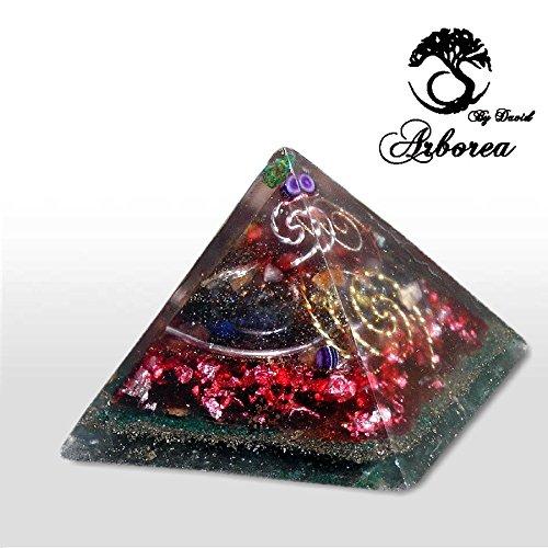 Orgone Pyramid, Universe View, Reiki charged, ArboreaCrystals Design, Orgonite pyramids by ArboreaCrystals Orgone