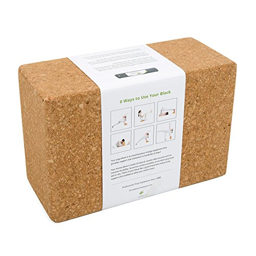 Yoga Blocks and Strap Set by Kurma, Cork Yoga Block 2 Pack with Cotton Strap, Professional Quality Props