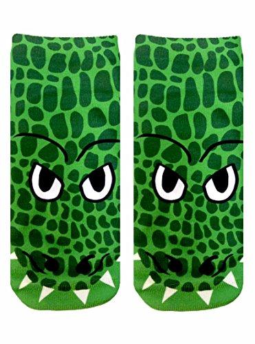 Crocodile Photo Print Ankle Socks