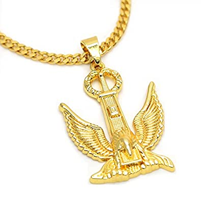 96c4dde0bc6 Image Unavailable. Image not available for. Color  Jerrial Charm Hip Hop  Jewelry Eagle ...
