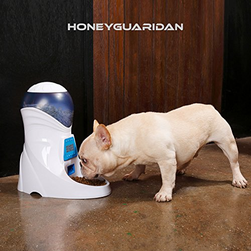 HoneyGuaridan A25 Automatic Pet Feeder Food Dispenser with Removable Food Container, Portion Control,Voice Recording and Timer Programmable, 6-Meal for Dogs (Medium and Small) and Cats & Small Animal by HoneyGuaridan (Image #8)