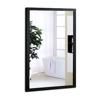 Amazon.com: Bathroom Mirror Wall Hanging HD Framed Mirror Wall ...