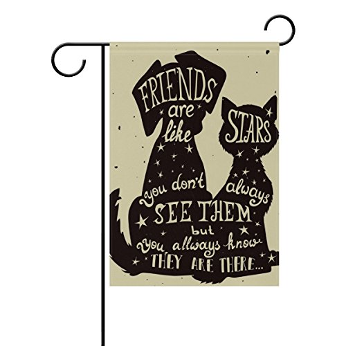 U LIFE Decorative Friendship Dogs Positive Quote Quotes Gard