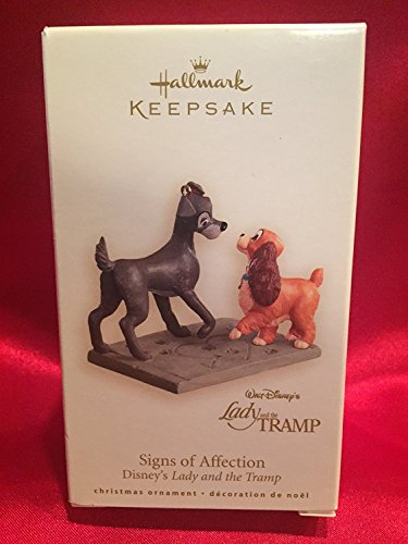 Sign's of Affection Disney's Lady and the Tramp 2008 Hallmark Keepsake ornamnet QXD6244 (Lady And The Tramp Figurine Set)