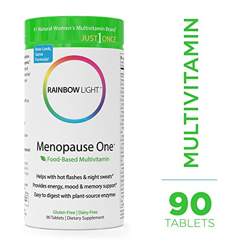Women Multivitamin 90 Tabs (Rainbow Light - Menopause One Food-Based Multivitamin - Vitamin, Mineral, Antioxidant, and Plant-source Enzyme Supplement; Supports Menopause Relief, Daily Nutrition, and Energy in Women - 90 Tablets)