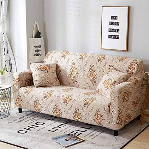 Sofa Cover Chair Couch Protect Loveseat Slipcover Stretch Elastic for Living Room Sofa Cover 1/2/3/4 (Fabric Slipcovered Loveseat)