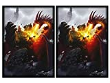 100 Death Grip Dragon Deck Protectors Max Protection Shuffle Tech Art Sleeves 2-Packs - Standard Magic the Gathering Size Black