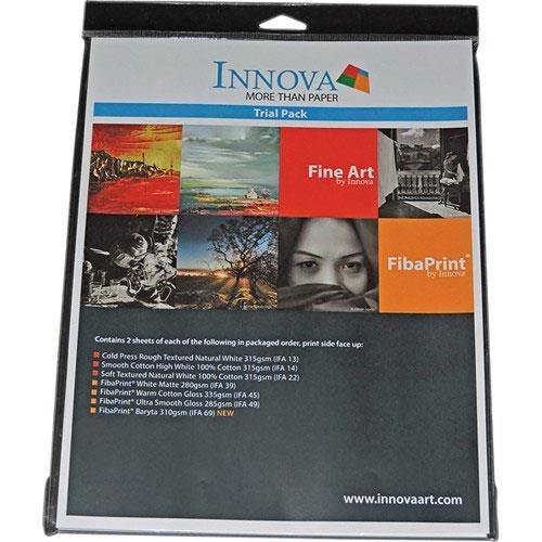 """Innova Art Fine Art Inkjet Paper Sample Pack, 8.5x11"""", 14 Sheets"""