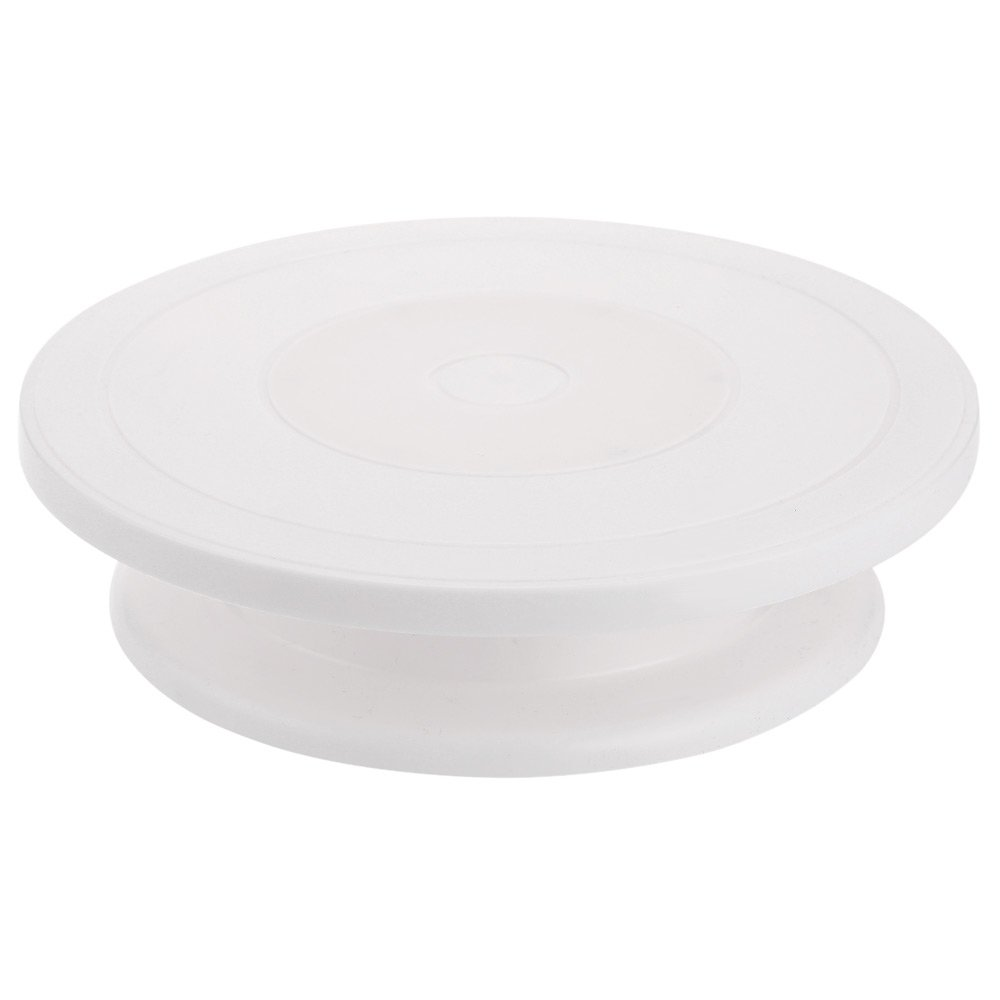 Naisidier Cake Decorating Turntable Swivel Plate Baking Tools White