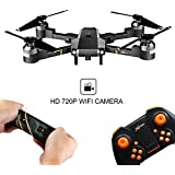 WINGLESCOUT XT-1 Foldable RC Quadcopter FPV Drone with 720P WiFi Camera Live Video Altitude Hold Gravity Sensor and AR Game Mode