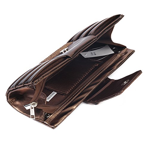 Bag Pleated Black Front Evening Crystal Clutch Handbag Large Womens Damara nTBCqzYq