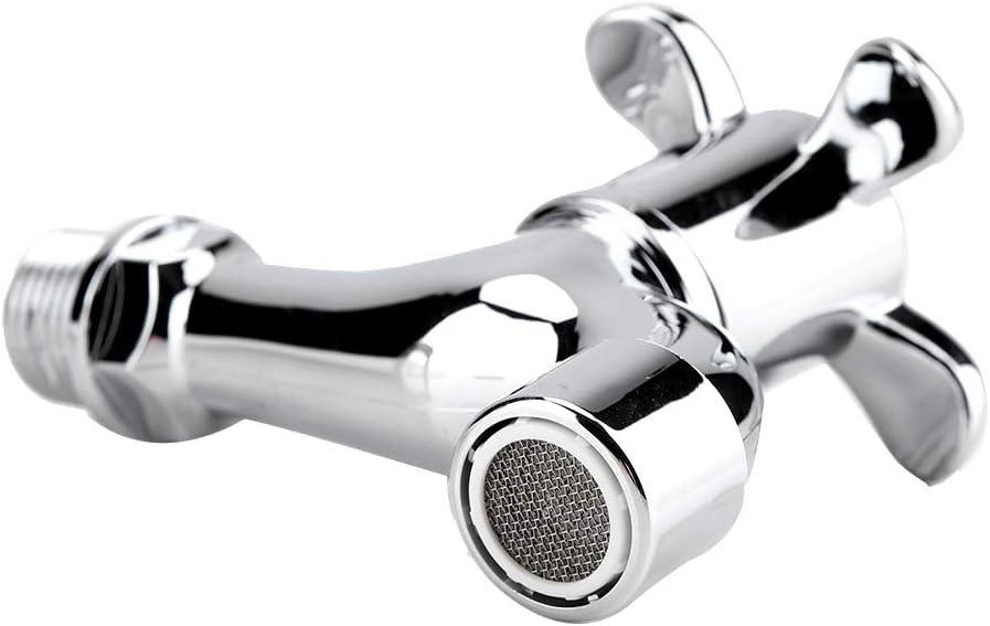 #1 Zerodis G1//2 Rubinetto dellAcqua Beccuccio Singolo Rubinetto per Lavabo Fredda//Calda Acqua Chrome Classico Faucet Water Tap per Lavandino Cucina Lavatrice Lavabo Bagno