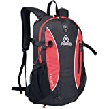 Asolo Ascent 35-Liter Backpack (Black/Red, Medium), Outdoor Stuffs