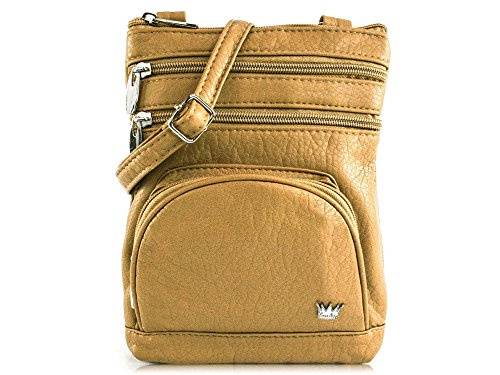 Duchess Body Purse Mini RFID Bag protected Organizer King Taupe Cross qvgEI