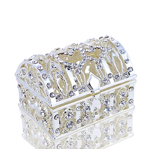 (YUFENG Vintage Jewelry Box Small Trinket Storage Organizer Box Ring Case for Girls Women)