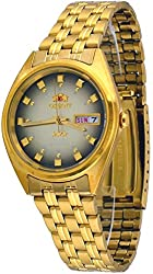 Orient #FAB00001P Men's 3 Star Standard Gold Tone Brown Dial Automatic Watch