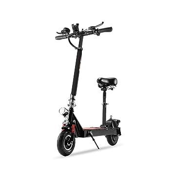 Eléctricas Bicicletas Bicicleta Plegable Scooter Inteligente para Adultos Scooter pequeño de Dos Ruedas cercanías Mini Bicicleta Femenina (Color : Black-B, ...