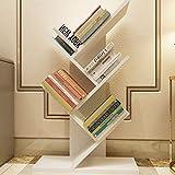 FenglinTech 5-Shelf Tree Shape Bookshelf - Wood Bookcase Book Rack Storage Organizer - Display Storage Furniture for CDs, Movies and Books